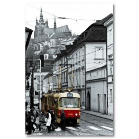 Αφίσα (μαύρο, λευκό, άσπρο, τρένο)